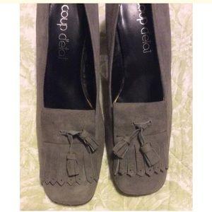 Coup Detat Shoes - Coup Detat Vintage grey suede tassel heel
